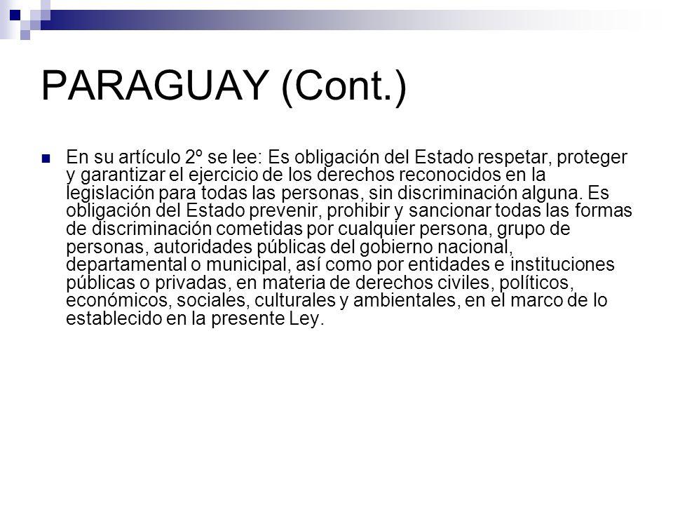 PARAGUAY (Cont.)