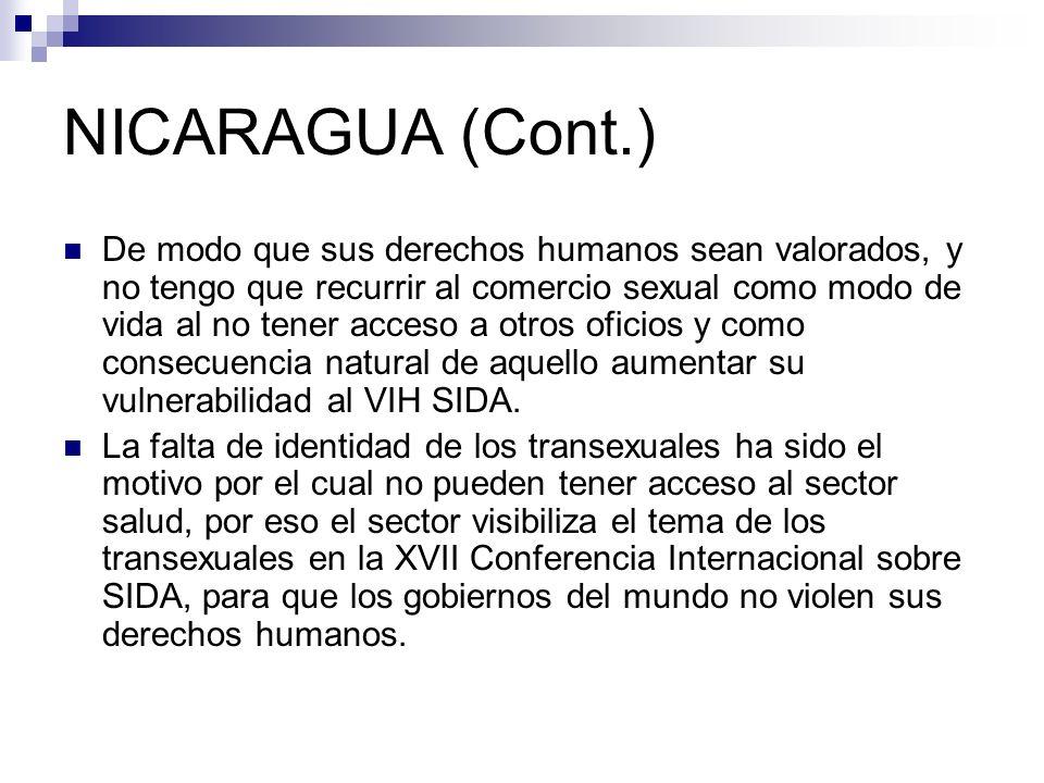 NICARAGUA (Cont.)