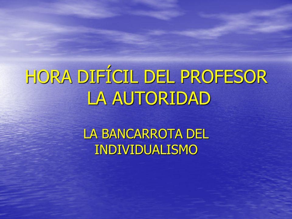 HORA DIFÍCIL DEL PROFESOR LA AUTORIDAD