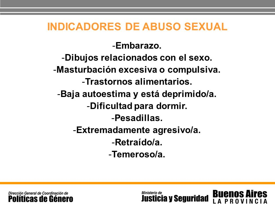 INDICADORES DE ABUSO SEXUAL