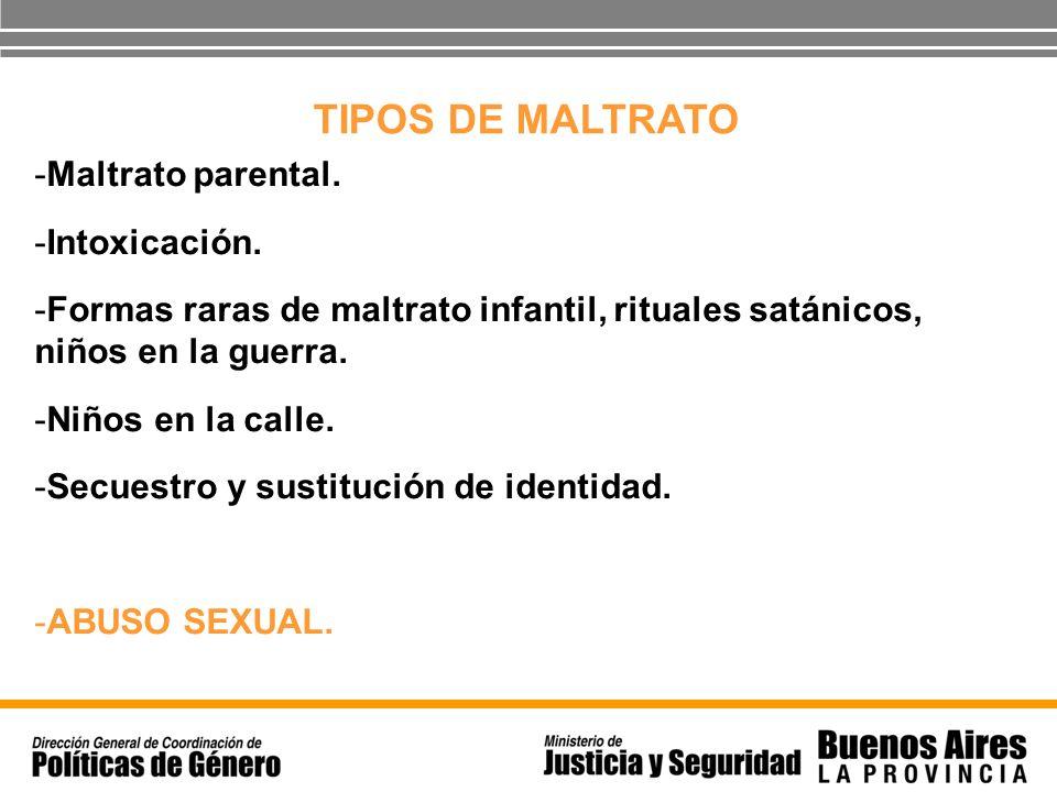 TIPOS DE MALTRATO Maltrato parental. Intoxicación.