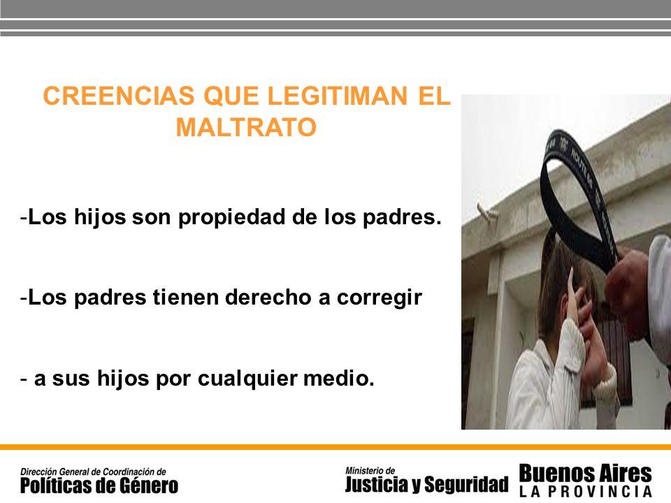 CREENCIAS QUE LEGITIMAN EL MALTRATO