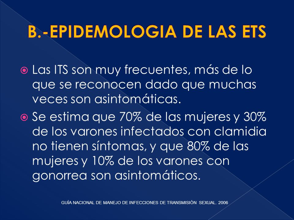 B.-EPIDEMOLOGIA DE LAS ETS