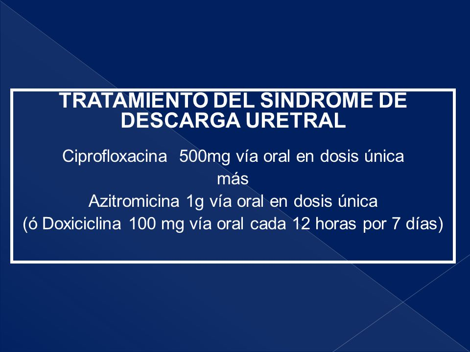 TRATAMIENTO DEL SÍNDROME DE DESCARGA URETRAL