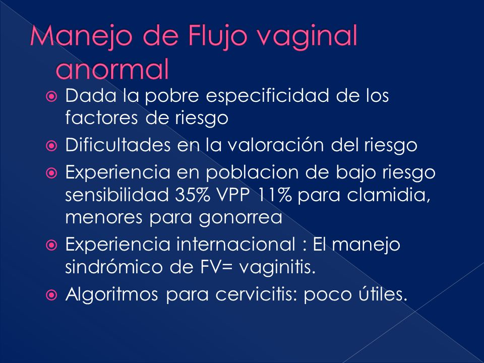 Manejo de Flujo vaginal anormal