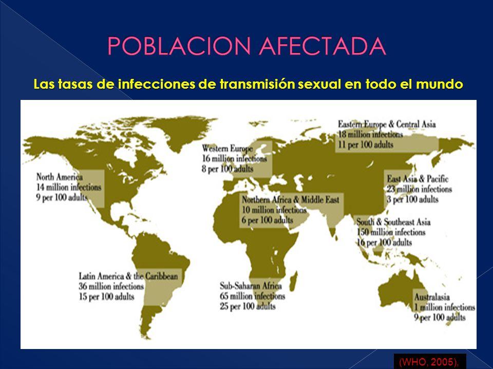 Las tasas de infecciones de transmisión sexual en todo el mundo
