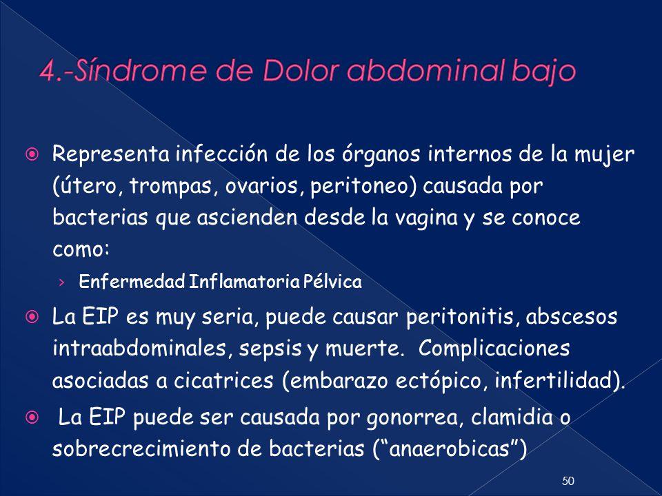 4.-Síndrome de Dolor abdominal bajo