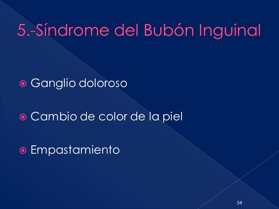 5.-Síndrome del Bubón Inguinal