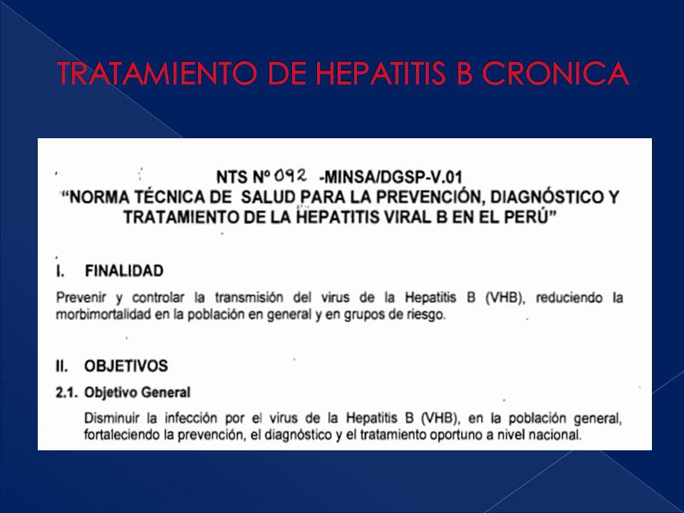 TRATAMIENTO DE HEPATITIS B CRONICA