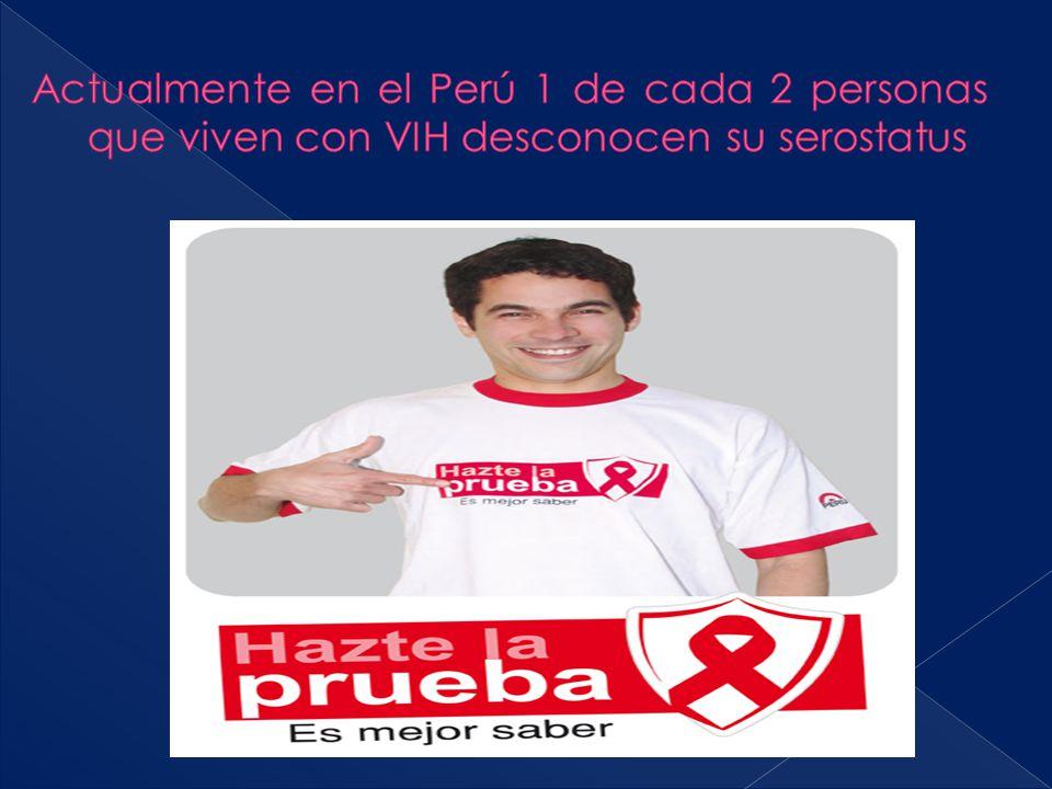 Actualmente en el Perú 1 de cada 2 personas que viven con VIH desconocen su serostatus