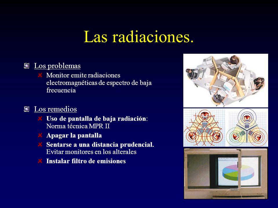 Las radiaciones. Los problemas Los remedios