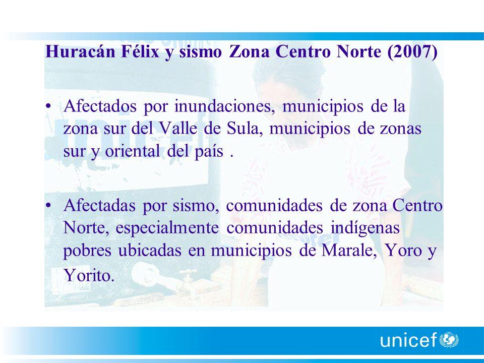 Huracán Félix y sismo Zona Centro Norte (2007)