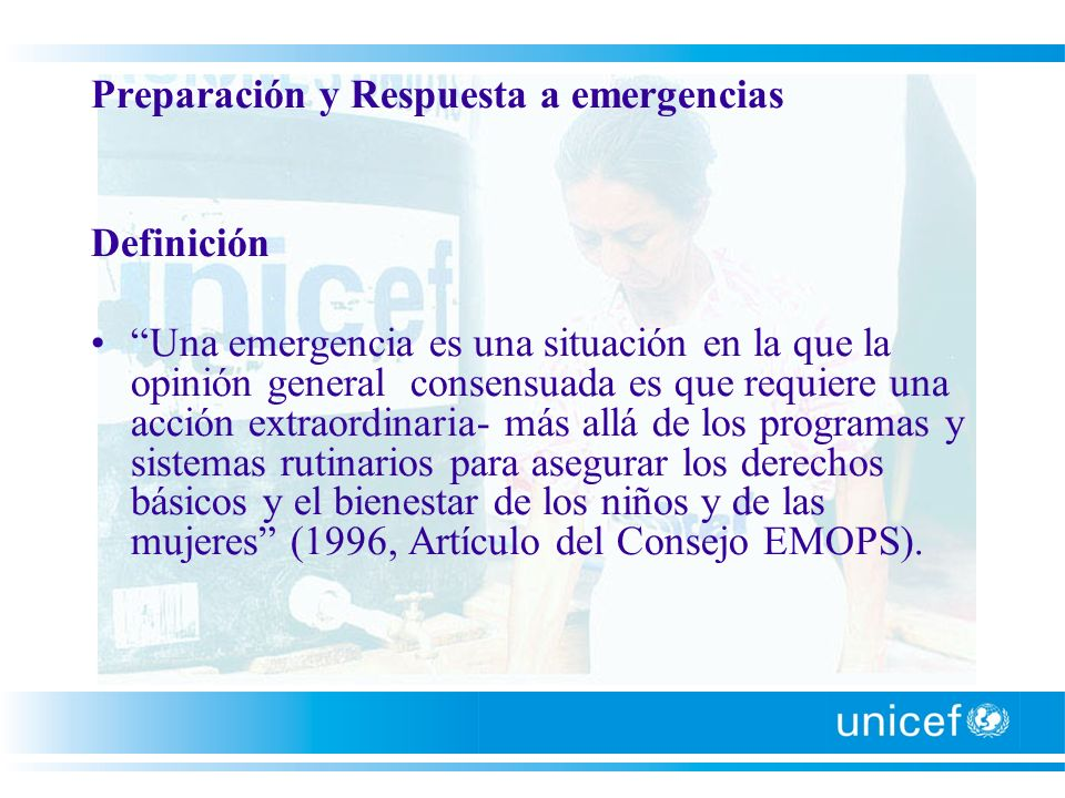 Preparación y Respuesta a emergencias