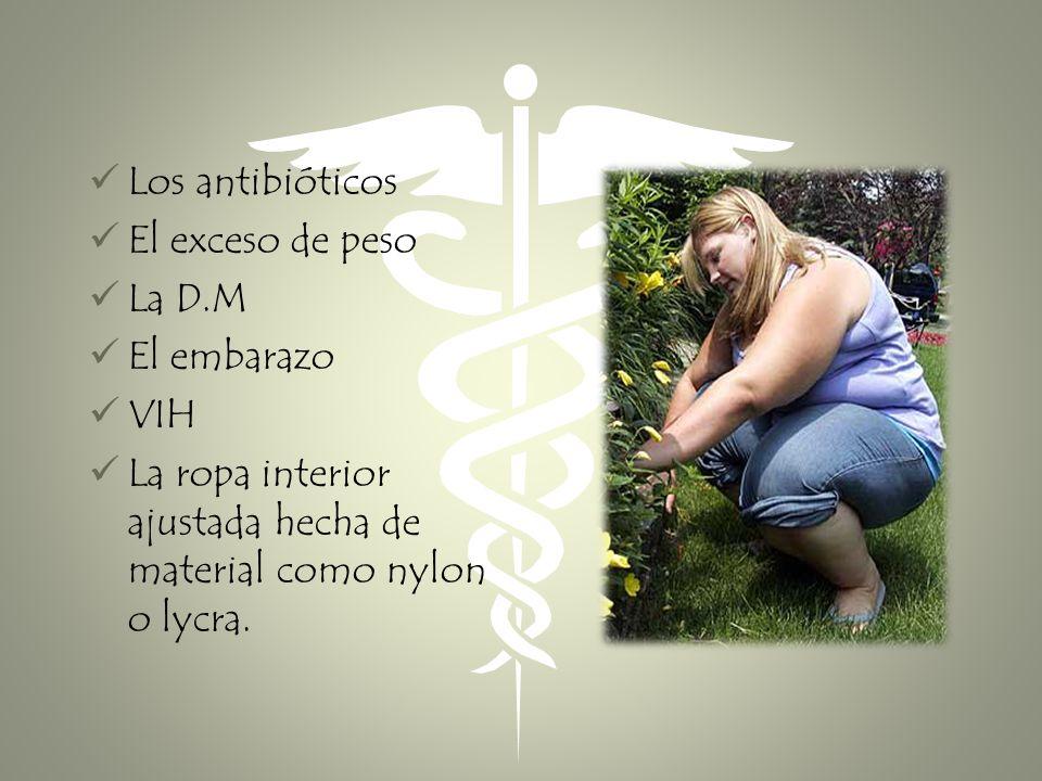 Los antibióticos El exceso de peso. La D.M. El embarazo.