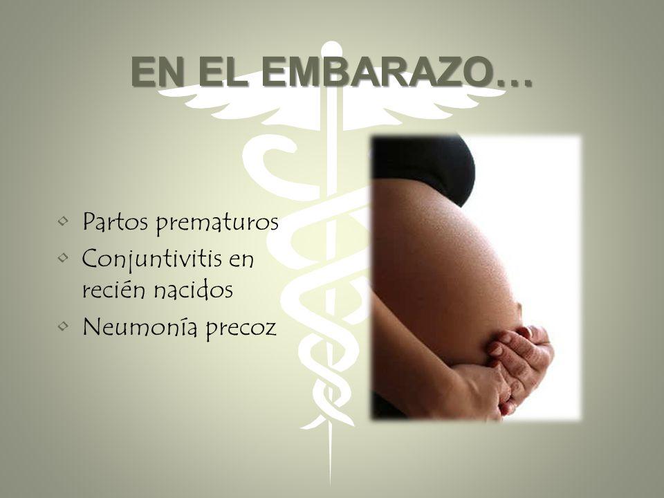 EN EL EMBARAZO… Partos prematuros Conjuntivitis en recién nacidos