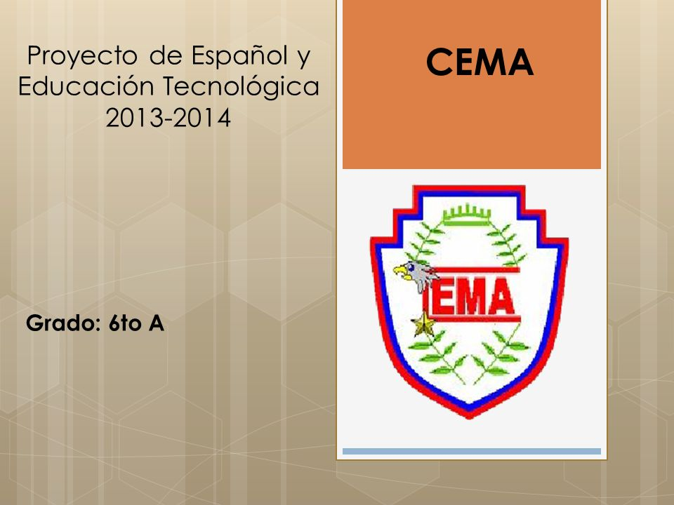 Proyecto de Español y Educación Tecnológica 2013-2014