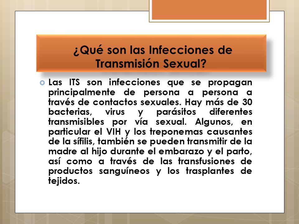 ¿Qué son las Infecciones de Transmisión Sexual