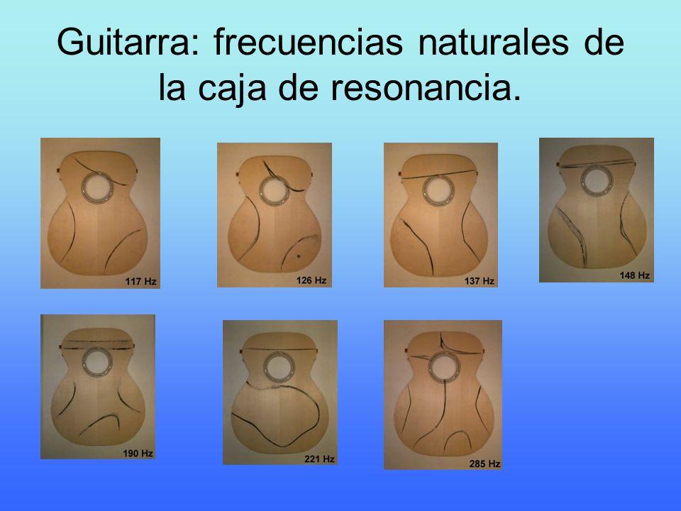 Guitarra: frecuencias naturales de la caja de resonancia.
