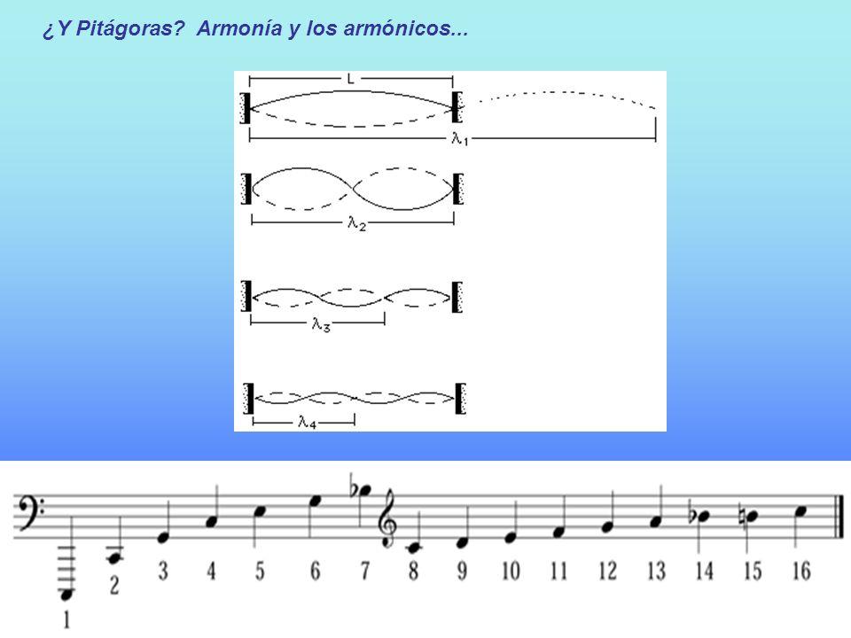 ¿Y Pitágoras Armonía y los armónicos...