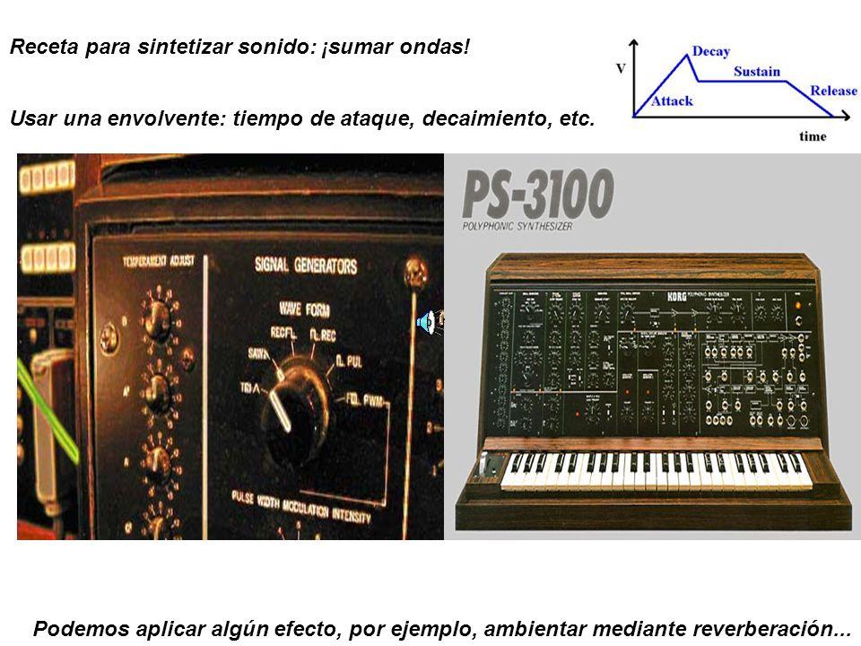 Receta para sintetizar sonido: ¡sumar ondas!