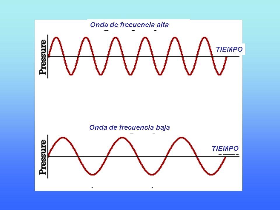 TIEMPO Onda de frecuencia alta Onda de frecuencia baja