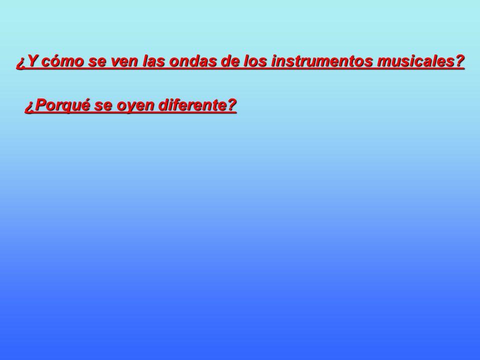 ¿Y cómo se ven las ondas de los instrumentos musicales