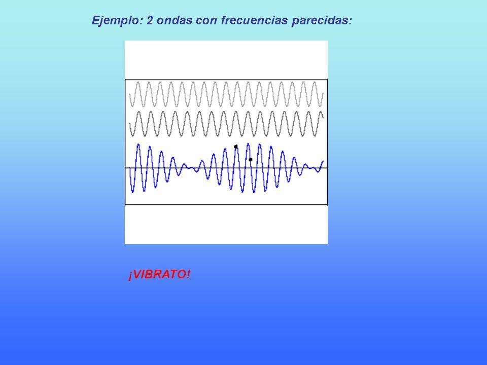 Ejemplo: 2 ondas con frecuencias parecidas: