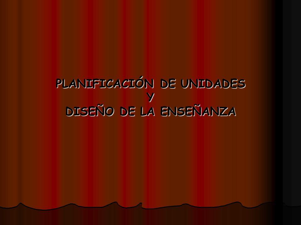 PLANIFICACIÓN DE UNIDADES