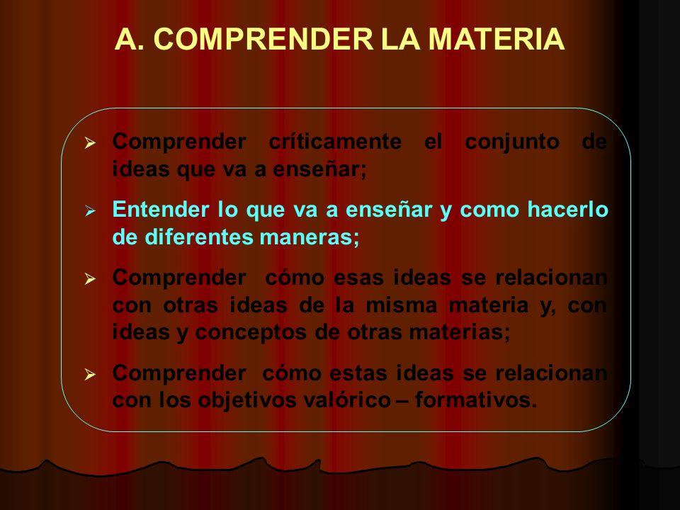 A. COMPRENDER LA MATERIA