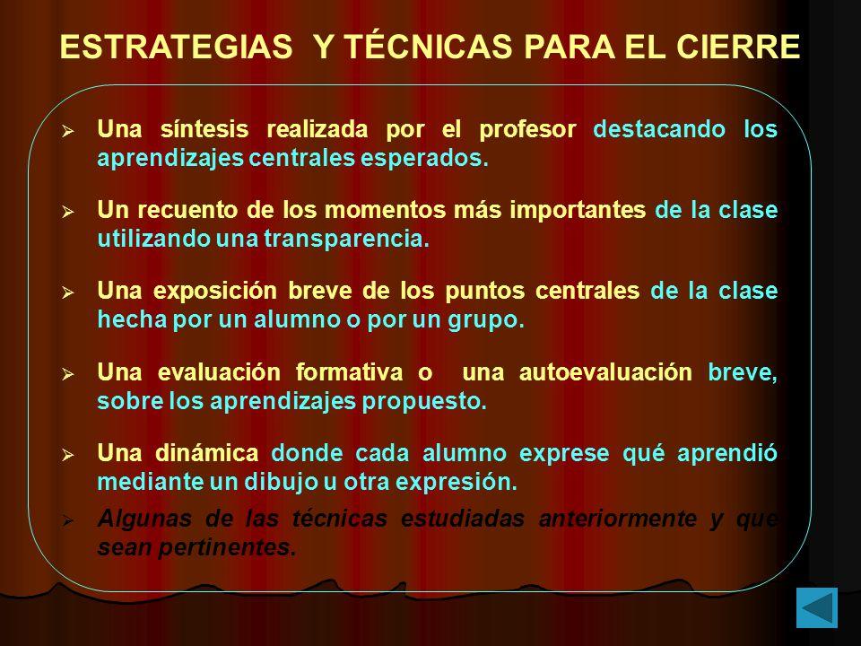 ESTRATEGIAS Y TÉCNICAS PARA EL CIERRE
