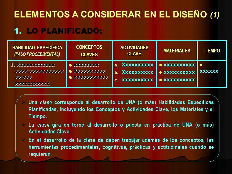 ELEMENTOS A CONSIDERAR EN EL DISEÑO (1)