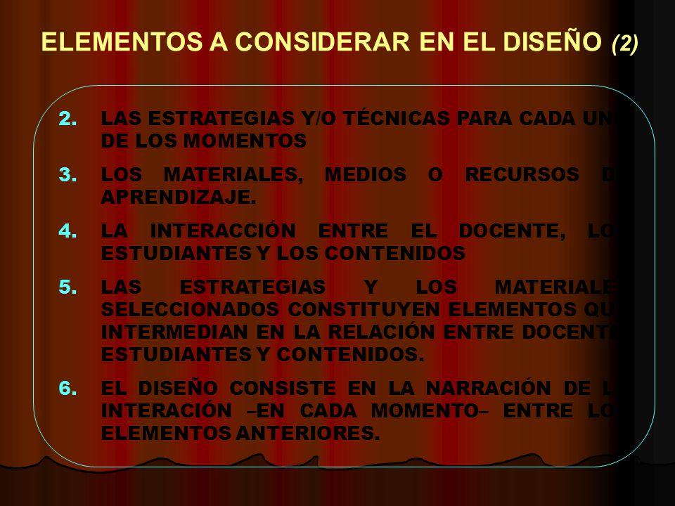 ELEMENTOS A CONSIDERAR EN EL DISEÑO (2)
