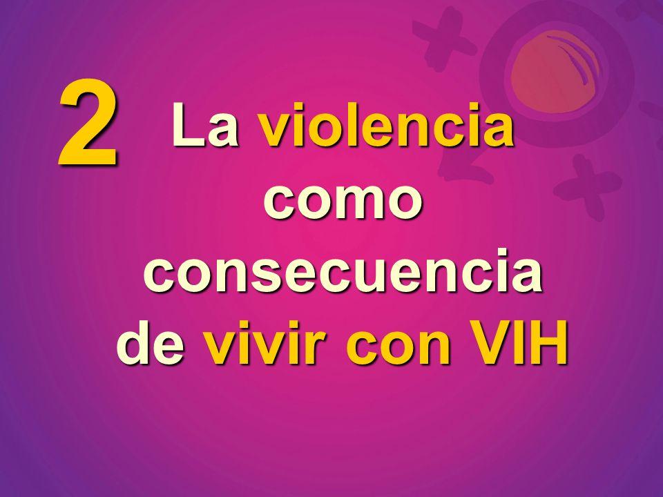 La violencia como consecuencia de vivir con VIH