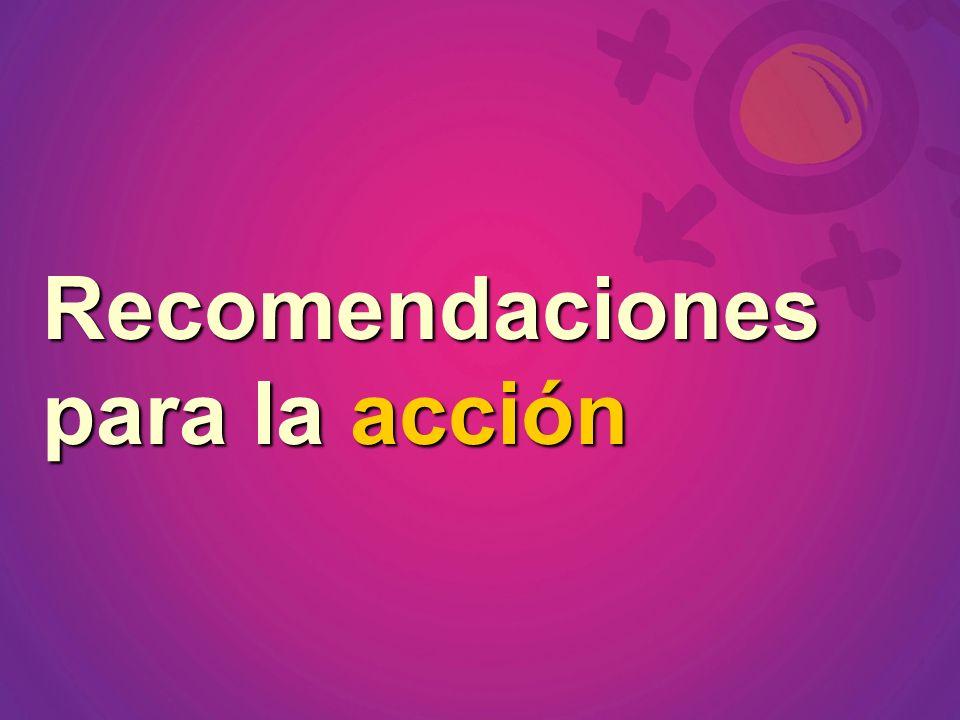 Recomendaciones para la acción