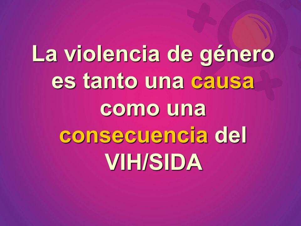 La violencia de género es tanto una causa como una consecuencia del VIH/SIDA