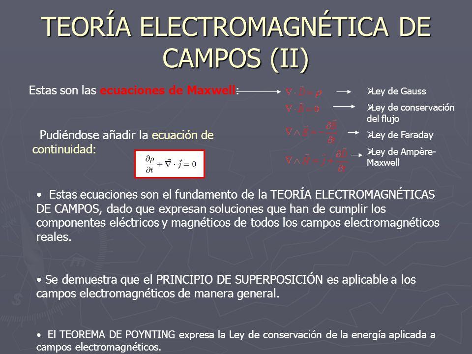 TEORÍA ELECTROMAGNÉTICA DE CAMPOS (II)