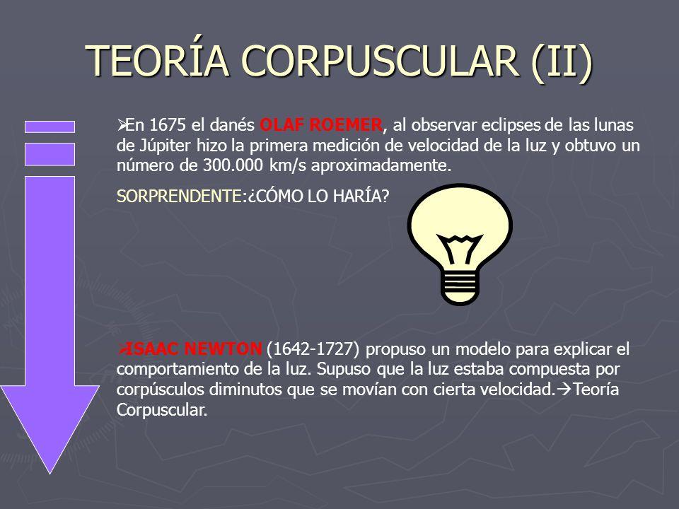 TEORÍA CORPUSCULAR (II)