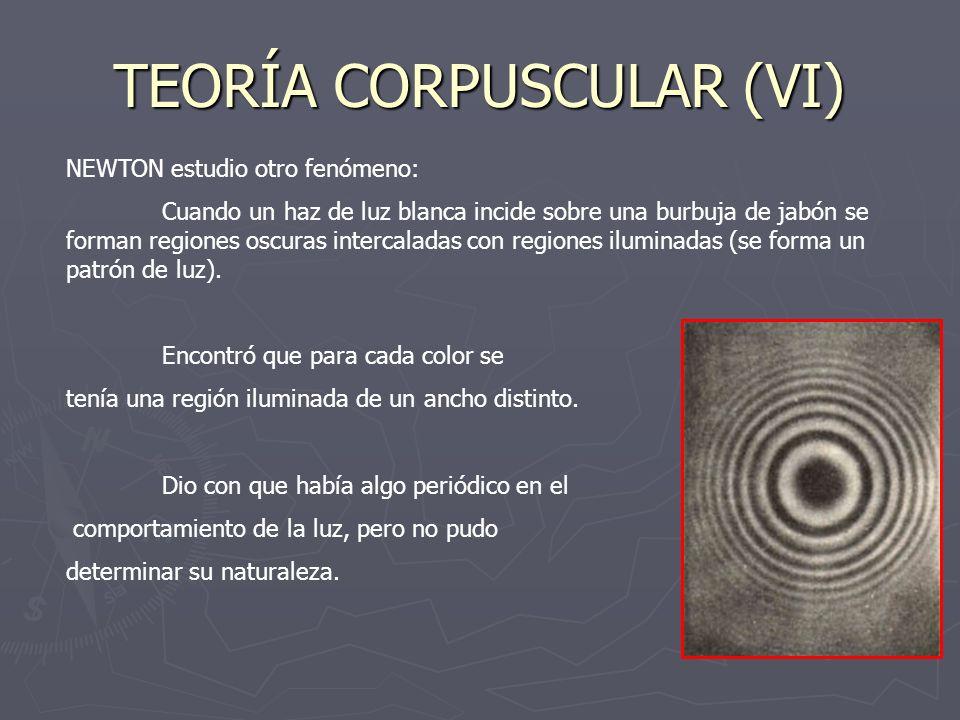 TEORÍA CORPUSCULAR (VI)