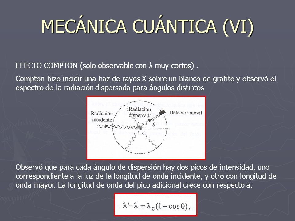 MECÁNICA CUÁNTICA (VI)
