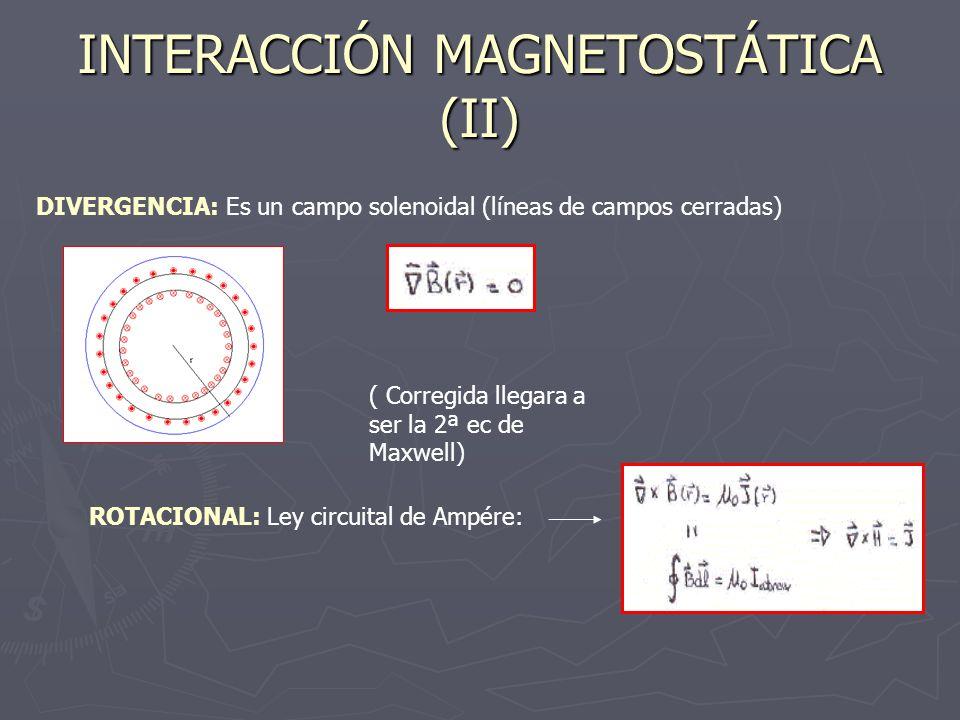 INTERACCIÓN MAGNETOSTÁTICA (II)