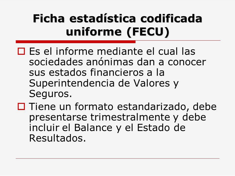 Ficha estadística codificada uniforme (FECU)