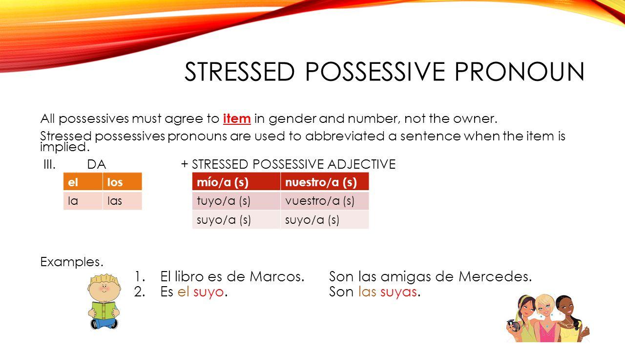 Stressed possessive Pronoun