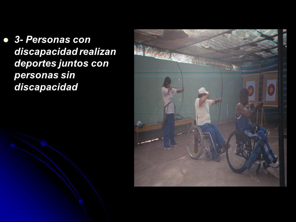 3- Personas con discapacidad realizan deportes juntos con personas sin discapacidad