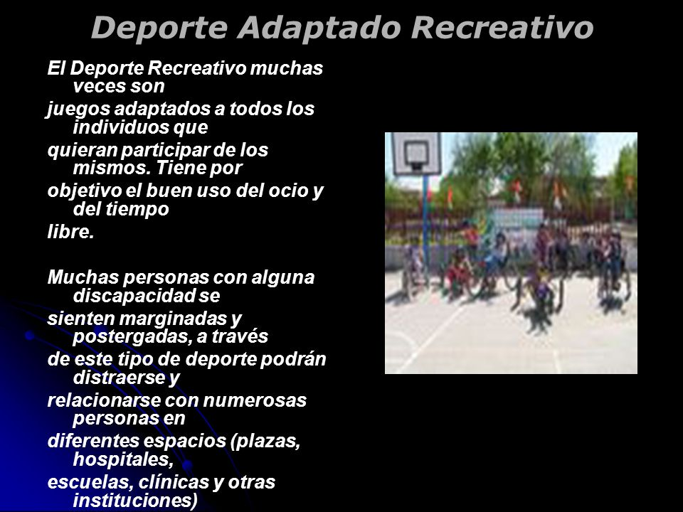 Deporte Adaptado Recreativo