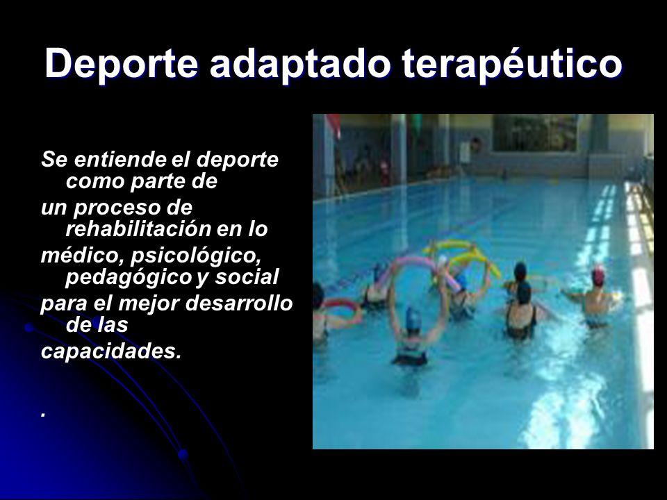 Deporte adaptado terapéutico