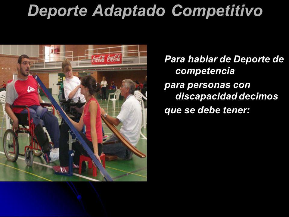 Deporte Adaptado Competitivo
