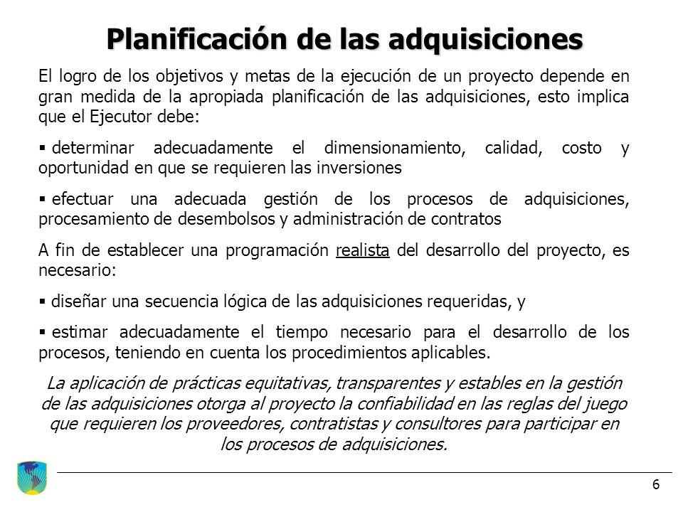 Planificación de las adquisiciones