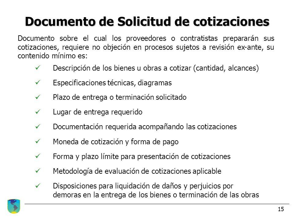 Documento de Solicitud de cotizaciones