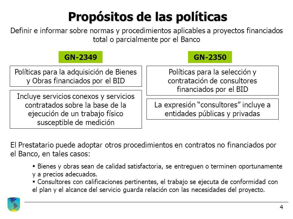 Propósitos de las políticas