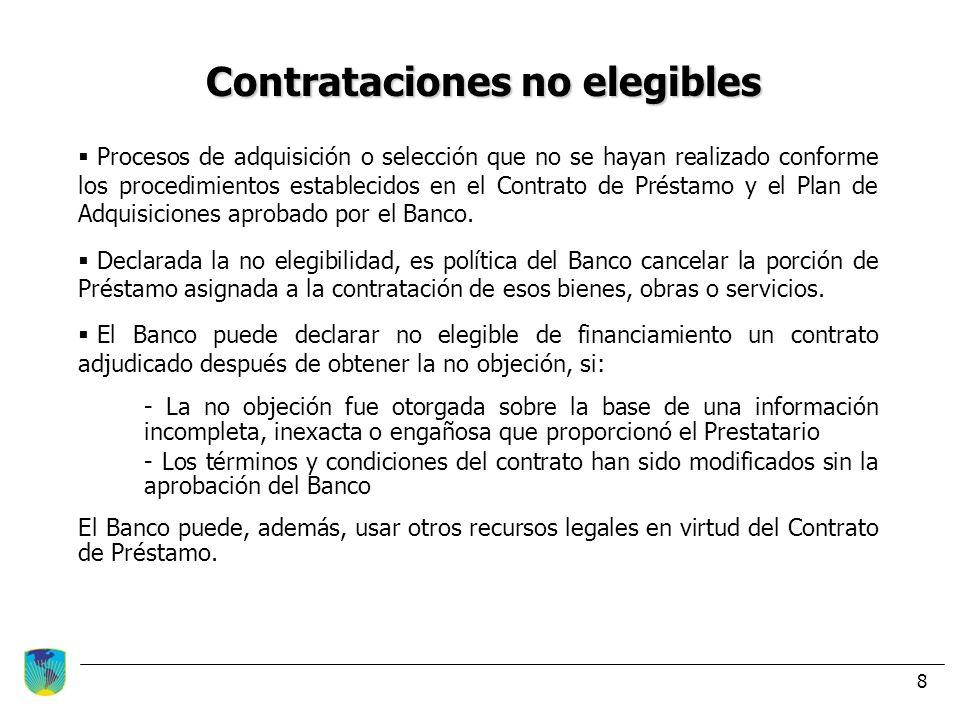 Contrataciones no elegibles